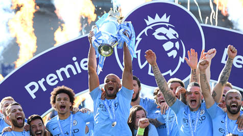 Premier League winners Manchester City