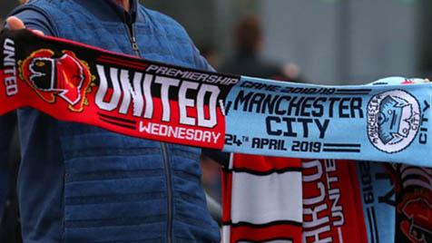 manchester football scarf